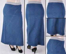 Faldas Largas Mayoreo SG-87117X Vintage Wholesale Plus Size Long Skirts Nantlis