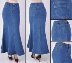 Faldas Largas Mayoreo SG-87224 Indigo Wholesale Long Skirts Nantlis