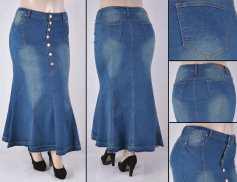 Faldas Largas Mayoreo SG-87243X Vintage Wholesale Plus Size Long Skirts