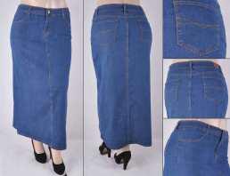 Faldas Largas Mayoreo SG-87248X Indigo Wholesale Plus Size Long Skirts