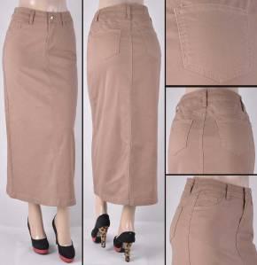 Faldas Largas Mayoreo SG-87266-18 Khaki Wholesale Long Skirts Nantlis