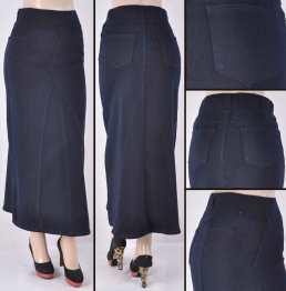 Faldas Largas Mayoreo SG-87271 Dark Blue Wholesale Long Skirts