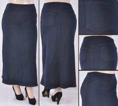 Faldas Largas Mayoreo SG-87271X Dark Blue Wholesale Plus Size Long Skirts