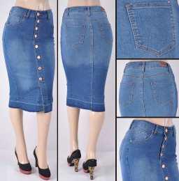 Faldas Mayoreo SG-76258B Indigo Wholesale Skirts