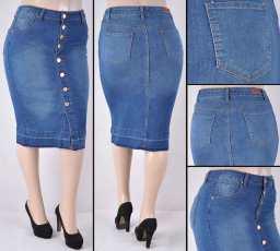 Faldas Mayoreo SG-76258XB Indigo Wholesale Plus Size Skirts