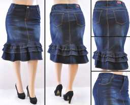 Faldas Mayoreo SG-76395X Dark Indigo Wholesale Plus Size Skirts