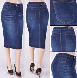 Faldas Mayoreo SG-76415 Dark Indigo Wholesale Skirts