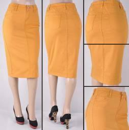 Faldas Mayoreo SG-76418B-115 Mustard Wholesale Skirts Nantlis