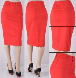 Faldas Mayoreo SG-76418B-17 Red Wholesale Skirts Nantlis