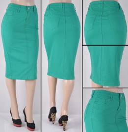 Faldas Mayoreo SG-76418B-63 Green Wholesale Skirts Nantlis