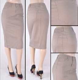 Faldas Mayoreo SG-76418C-124 Tan Wholesale Skirts