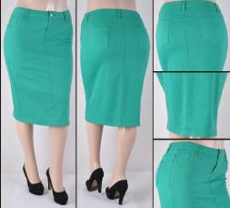 Faldas Mayoreo SG-76418X(B)-63 Green Wholesale Plus Size Skirts Nantlis