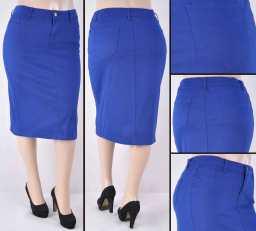 Faldas Mayoreo SG-76418XC-105 Royal Blue Wholesale Plus Size Skirts