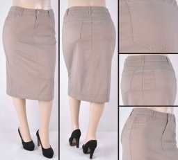 Faldas Mayoreo SG-76418XC-124 Tan Wholesale Plus Size Skirts