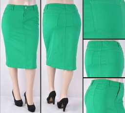 Faldas Mayoreo SG-76418XC-63 Green Wholesale Plus Size Skirts