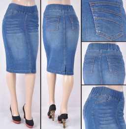 Faldas Mayoreo SG-77104A Indigo Wholesale Skirts