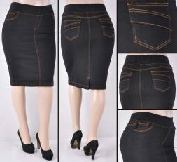 Faldas Mayoreo SG-77104X(A) Black Wholesale Plus Size Skirts Nantlis