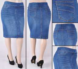 Faldas Mayoreo SG-77104XA Indigo Wholesale Plus Size Skirts