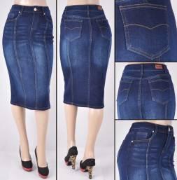 Faldas Mayoreo SG-77105 Dark Indigo Wholesale Skirts Nantlis