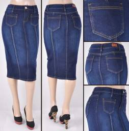 Faldas Mayoreo SG-77225 Dark Indigo Wholesale Skirts Nantlis