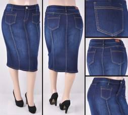 Faldas Mayoreo SG-77225X Dark Indigo Wholesale Plus Size Skirts Nantlis