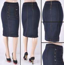 Faldas Mayoreo SG-77246 Dark Indigo Wholesale Skirts