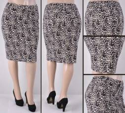 Faldas Mayoreo SG-77264X-118-Leopard#C Wholesale Plus Size Skirts Nantlis