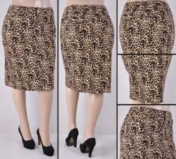 Faldas Mayoreo SG-77264X-119-Leopard#A Wholesale Plus Size Skirts Nantlis
