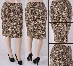 Faldas Mayoreo SG-77264X-119-Leopard#A Wholesale Plus Size Skirts Nantlis