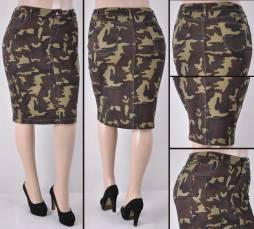 Faldas Mayoreo SG-77264X-120-Camouflage Wholesale Plus Size Skirts Nantlis