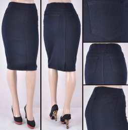 Faldas Mayoreo SG-77272 Dark Blue Wholesale Skirts