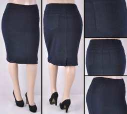 Faldas Mayoreo SG-77272X Dark Blue Wholesale Plus Size Skirts
