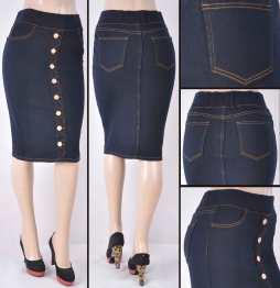 Faldas Mayoreo SG-77273 Dark Blue Wholesale Skirts