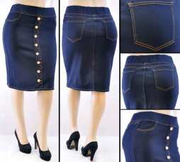 Faldas Mayoreo SG-77273X Dark Blue Wholesale Plus Size Skirts