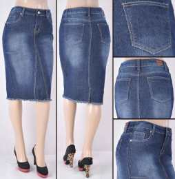 Faldas Mayoreo SG-77274 Dark Indigo Wholesale Skirts