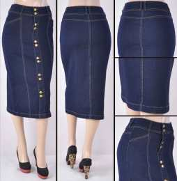 Faldas Mayoreo SG-77315 Dark Indigo Wholesale Skirts