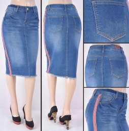 Faldas Mayoreo SG-77316 Indigo Wholesale Skirts