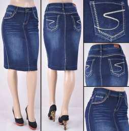 Faldas Mayoreo SG-77334 Dark Indigo Wholesale Skirts