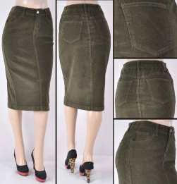 Faldas Mayoreo SG-77337-21 Olive Wholesale Skirts