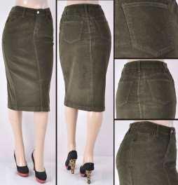 Faldas Mayoreo SG-77337-21 Olive Wholesale Skirts