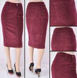 Faldas Mayoreo SG-77337-55 Burgundy Wholesale Skirts
