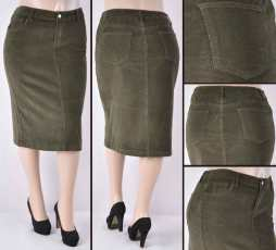 Faldas Mayoreo SG-77337X-21 Olive Wholesale Plus Size Skirts