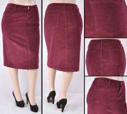 Faldas Mayoreo SG-77337X-55 Burgundy Wholesale Plus Size Skirts