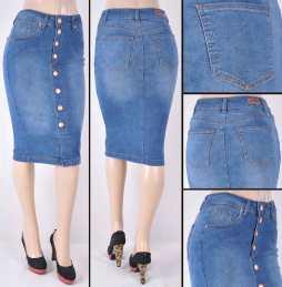 Faldas Mayoreo SG-77426 Indigo Wholesale Skirts Nantlis