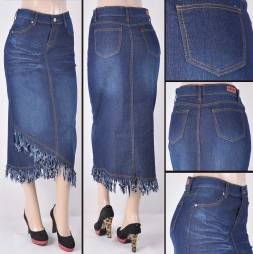 Faldas Mayoreo SG-86345A Dark Indigo Wholesale Skirts Nantlis