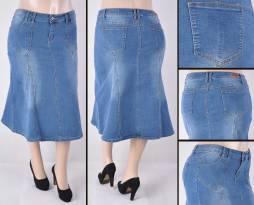 Faldas Mayoreo SG-87240X Indigo Wholesale Plus Size Skirts Nantlis