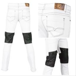 Nantlis MFJ5129 Mens jeans pantalon para hombre