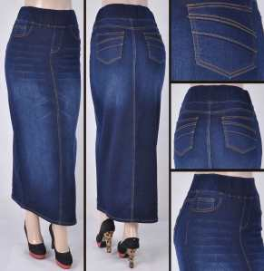 Faldas Largas Mayoreo SG-87241A Dark Indigo Wholesale Long Skirts Nantlis