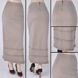 Faldas Largas Mayoreo SG-87254 Tan Wholesale Long Skirts Nantlis