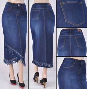 Faldas Largas Mayoreo SG-87471 Dark Indigo Wholesale Long Skirts Nantlis
